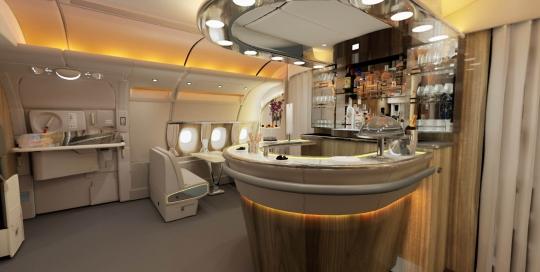 Emirates Onboard Lounge bar