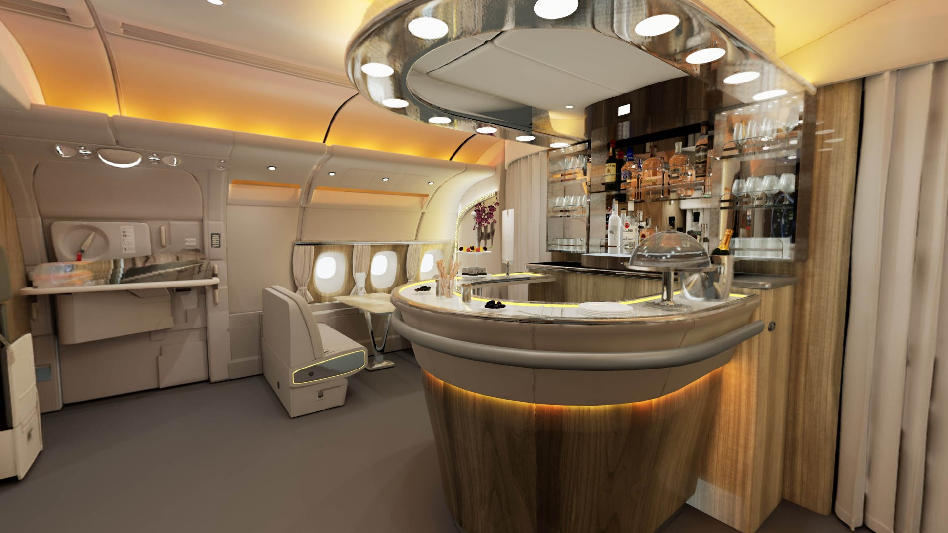 Emirates Onboard Lounge bar